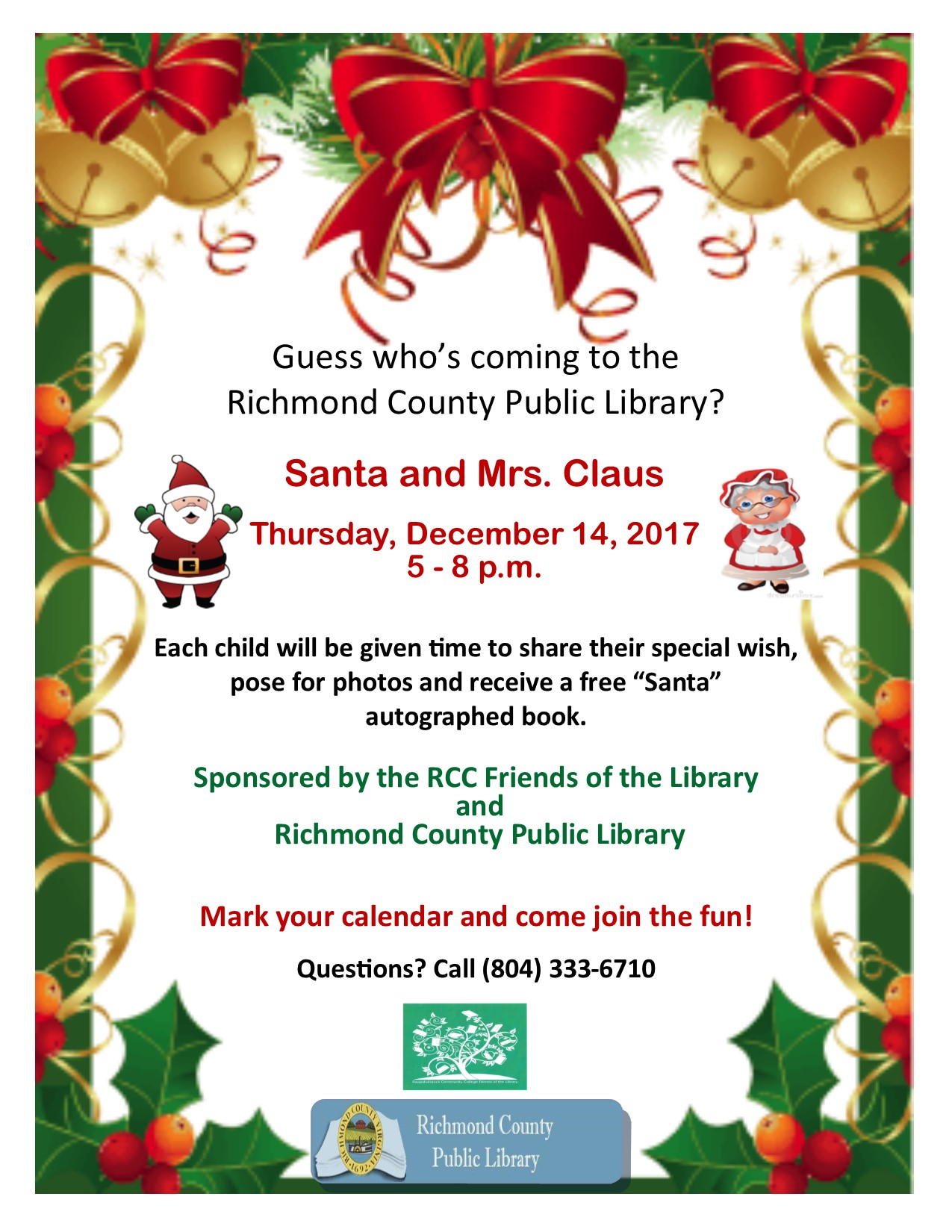 Santa Claus is Comin' To Town! @ Richmond County Public Library | Warsaw | Virginia | United States