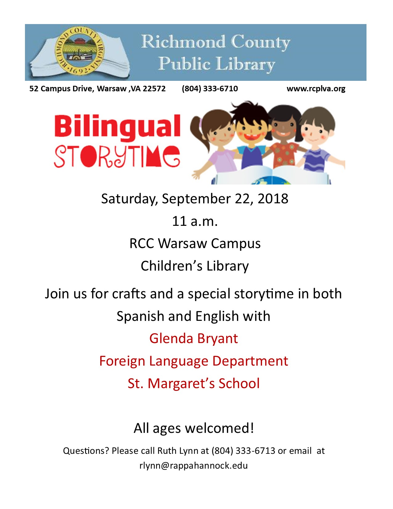 Spanish Storytime @ Rappahannock Community College